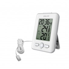 B0129ST2C WIRED INDOOR/OUTDOOR THERMOMETER WITH ALARM