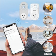 Homgar Wifi Plug Kit ,Energy Monitoring ,Works with Alexa, Google Home( 1 main plug+1 sub plug)